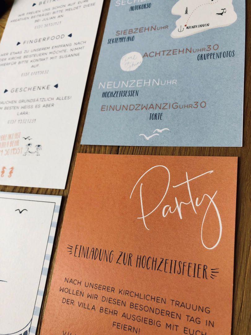 Einladung Detail Party